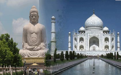 book taj mahal with buddhist tour package